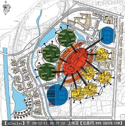 校园景观规划-48-校园规划结构图
