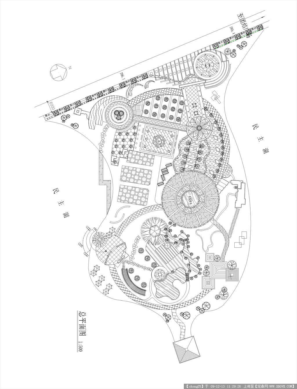 民主湖公园设计方案图纸