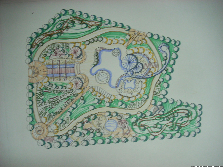 某儿童公园景观设计手绘总平