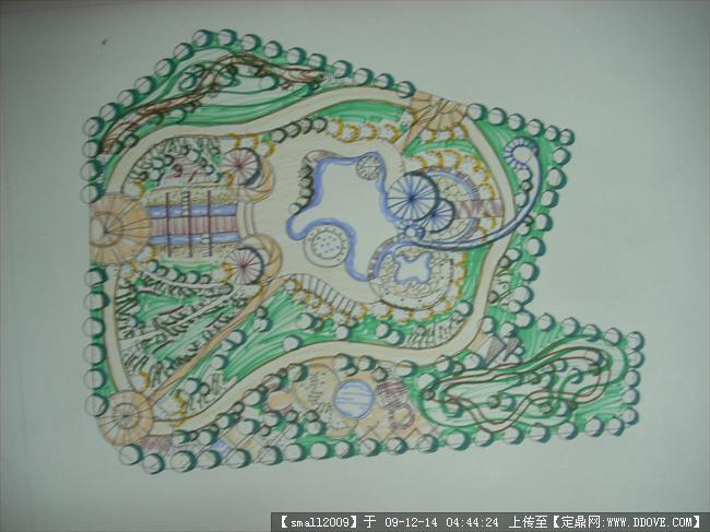 某儿童公园景观设计手绘总平的图片浏览,园林方案设计
