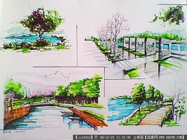 滨河广场设计手绘文本的下载地址,园林项目案例,滨水图片