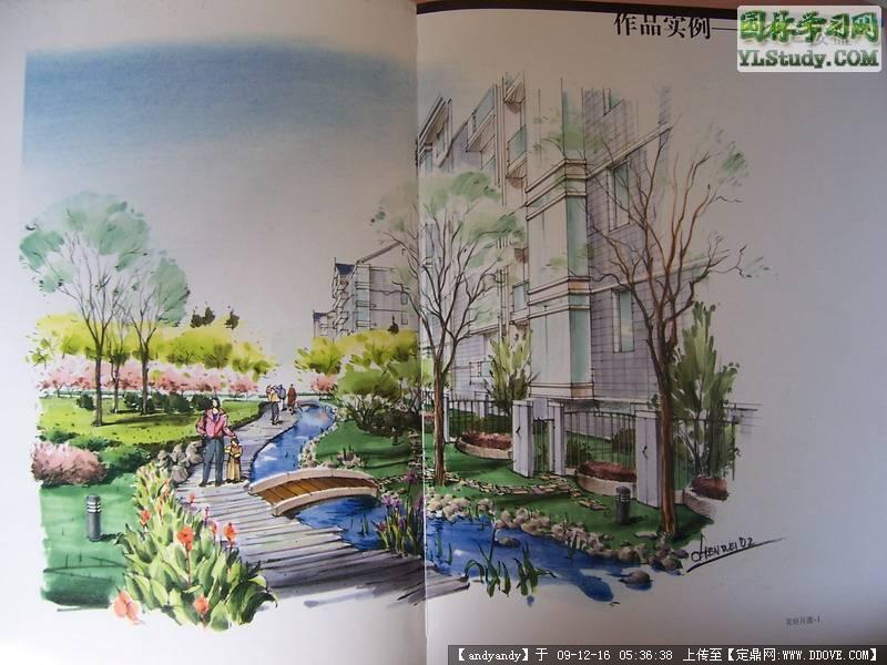 手绘小景照片的图片浏览,园林效 果图,手绘效果,园林