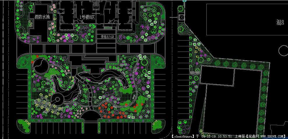 居住区植物配置总平图