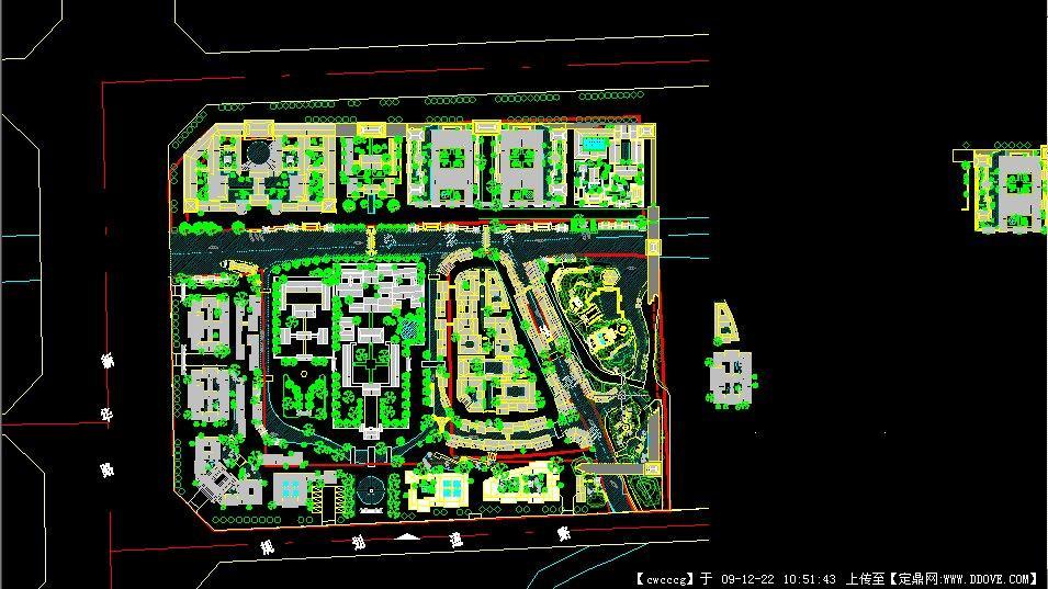 某居住区规划总平图