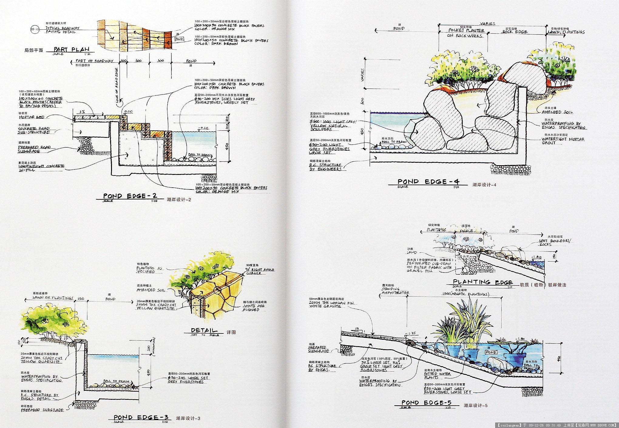 全套小区手绘2的图片浏览,园林方案设计,居住区,园林
