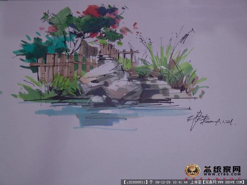 庐山手绘作品