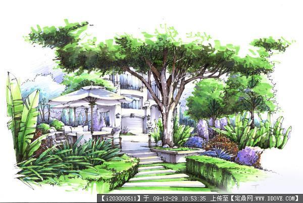 房屋立体设计图手绘