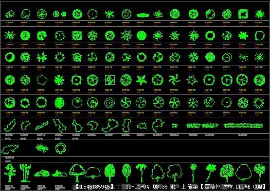 摘要:园林各种植物图例; cad格式的植物; 园林花卉图例