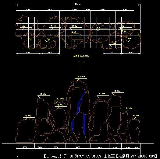 假山v假山图纸(平立面)CAD矩形面积看怎么图片