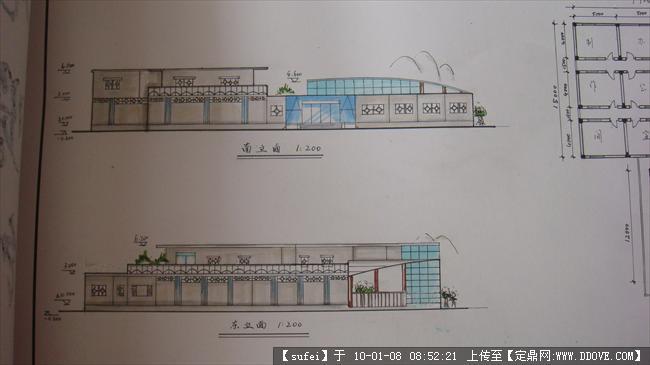 小展览馆吸附下载图纸6张的手绘地址把在墙上图纸的设计图片
