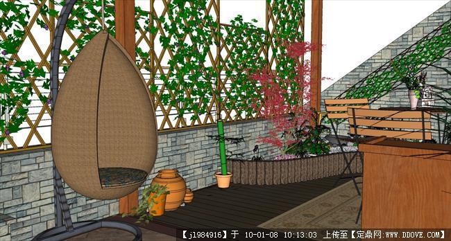 屋顶花园手绘效果图图片分享;