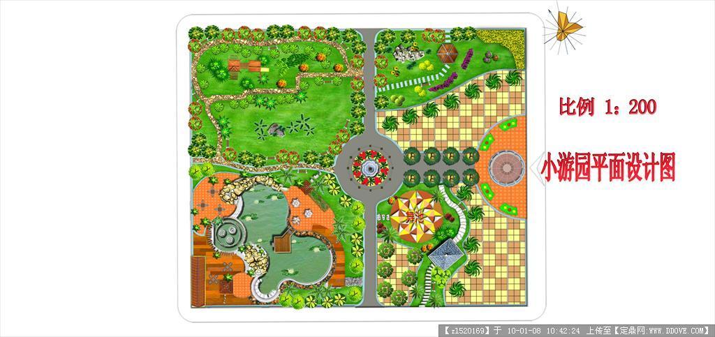 小游园平面psd效果图的下载地址,psd模版,园林效果图