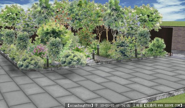 个人作品-居住区景观规划su效果图一套
