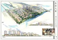 全套人家小区规划设计图纸手绘水景-学生作品房建业方案图片