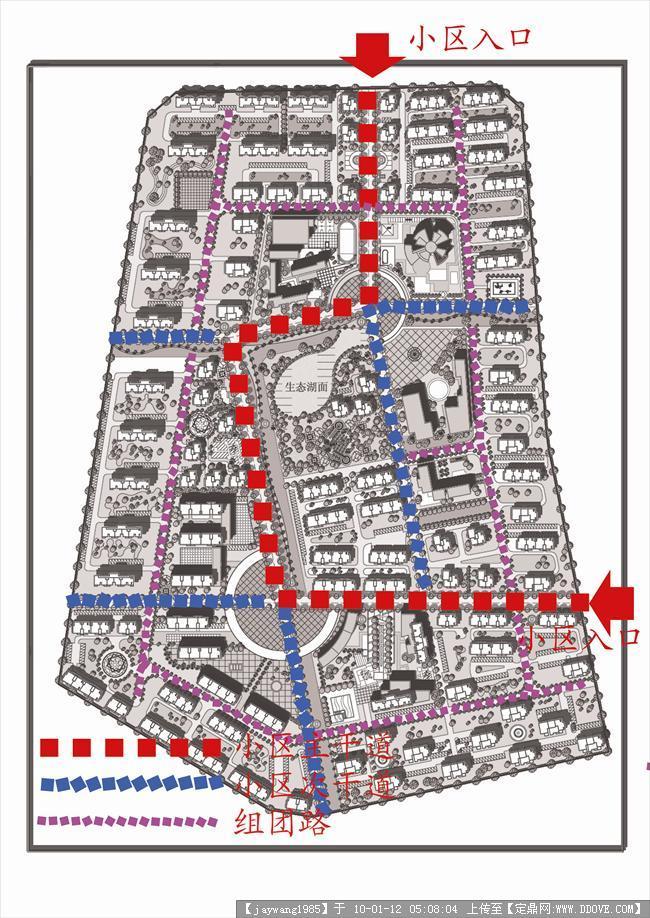青岛某小区规划-道路分析.jpg