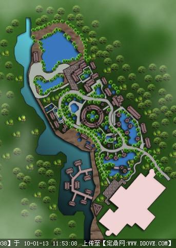 园林景观设计方案效果图设计素材教学资料下载