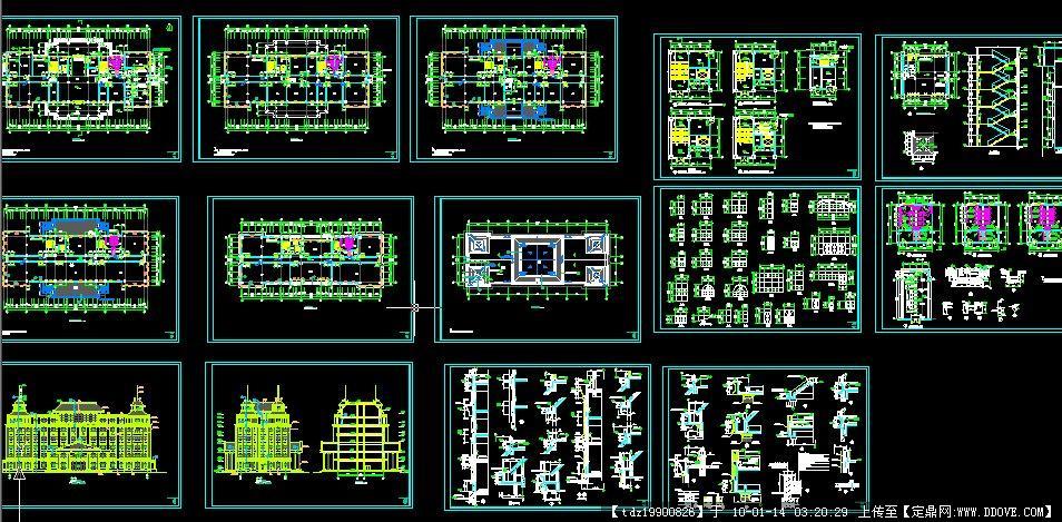 欧式办公楼施工图