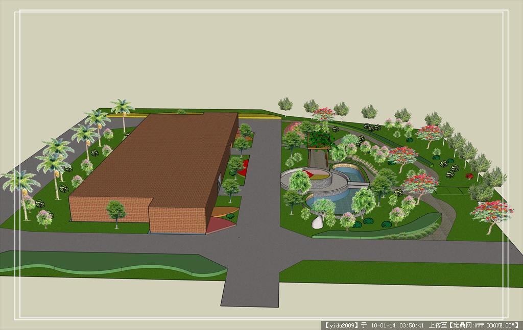 设计图分享 园林景观勇泉设计图  园林景观设计cad施工图基础学习教程