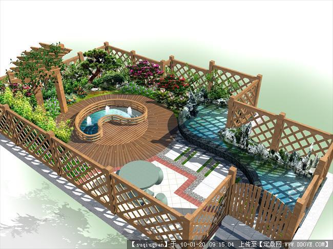 别墅屋顶景观设计效果图