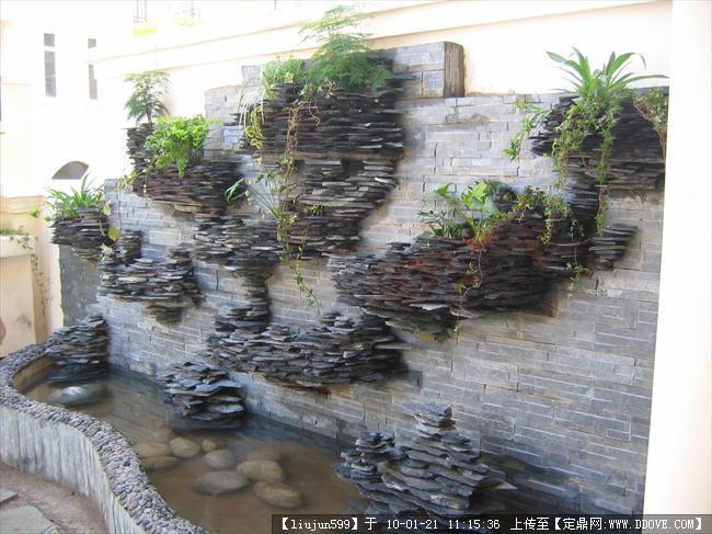 花园工程假山水池实景相片