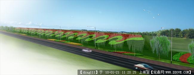 道路斜坡绿化效果3张