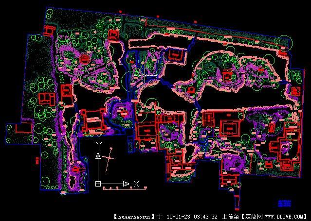 苏州园林拙政园的平面图