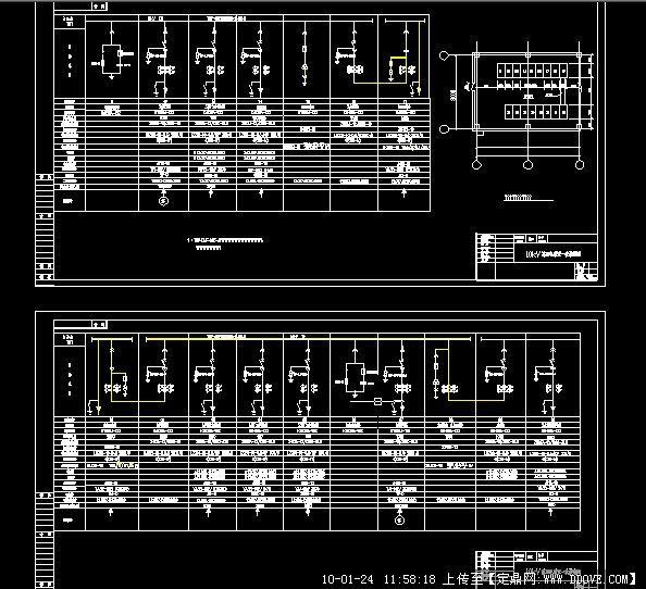 厂用电10kv总配电装置一次接线图