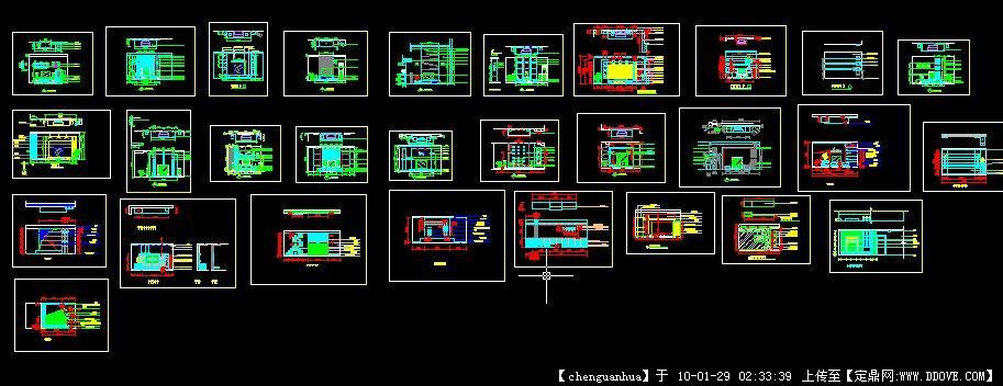 详细电视图纸墙v电视背景建筑楼梯滑板图纸图片
