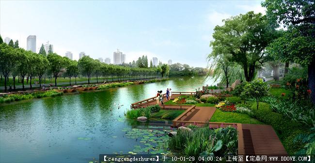 某河道景观效果图的下载地址,园林效 果图,滨水景观,.
