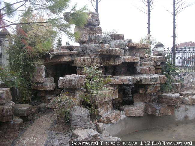 龟纹石假山驳岸实景照片的图片浏览,园林节点照片,假山,园林景观