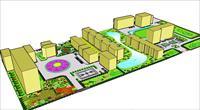 校园休闲场地设计jpg园林景观设计方案效果图设计素材图片