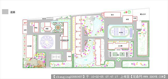 校园景观规划设计-道路分析图.jpg