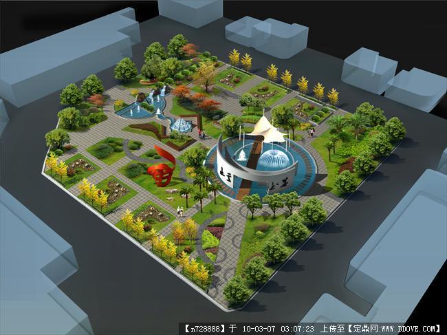 校园广场设计效果图