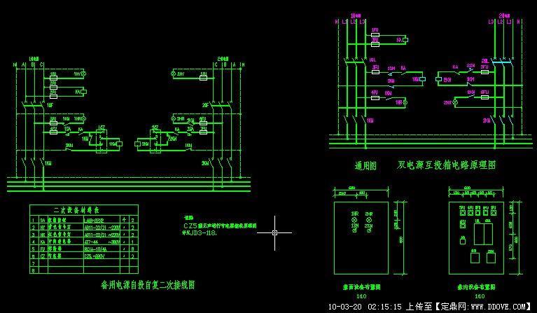 双电源互投箱系统图