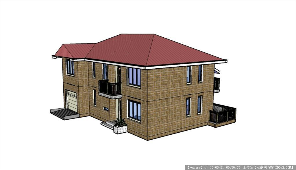 别墅sketchup模型图片