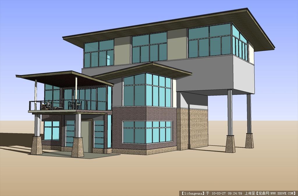 别墅娱乐室效果图; 三维模型,建筑模型,园林建筑; 别墅su模型1()
