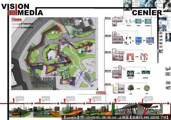 手绘建筑设计a1排版 建筑设计排版模板 建筑设计a1优秀排版
