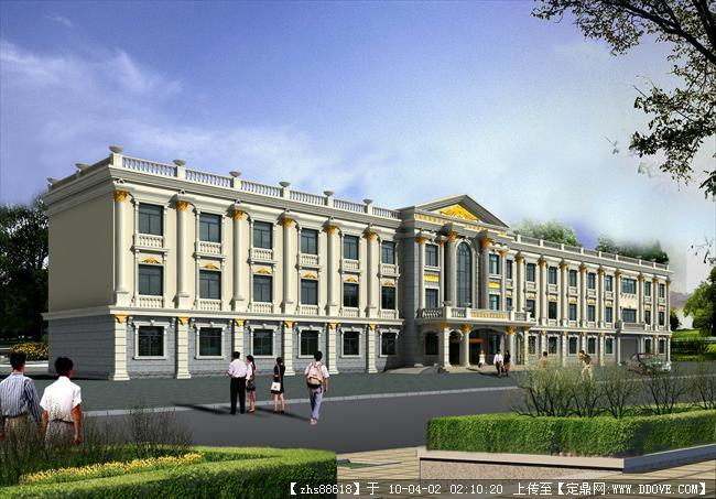 欧式建筑酒店效果图的图片浏览