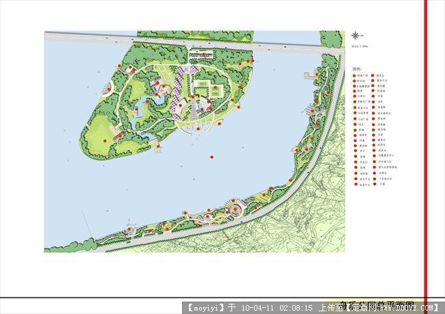 某公园景观设计总平面效果图的图片浏览,园林方案设计