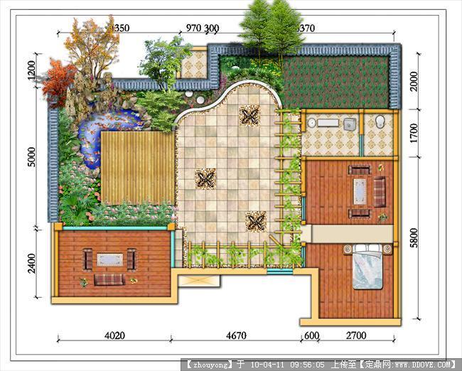 小庭院景观设计平面效果图