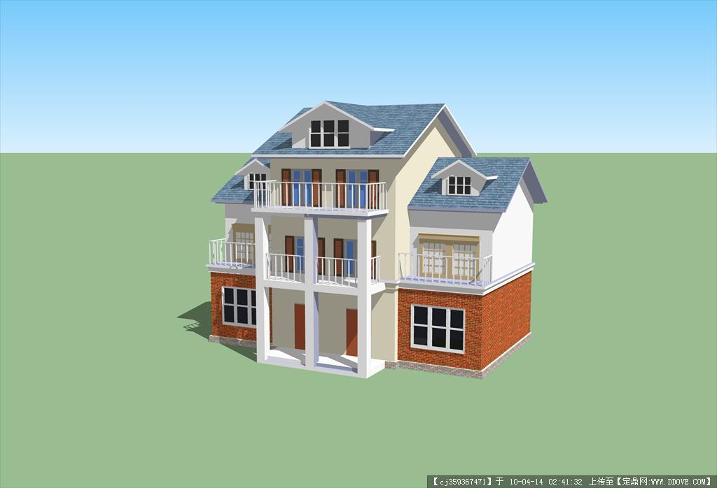 住宅模型1 244.89 kb; su建筑模型免费下载; residential model su;