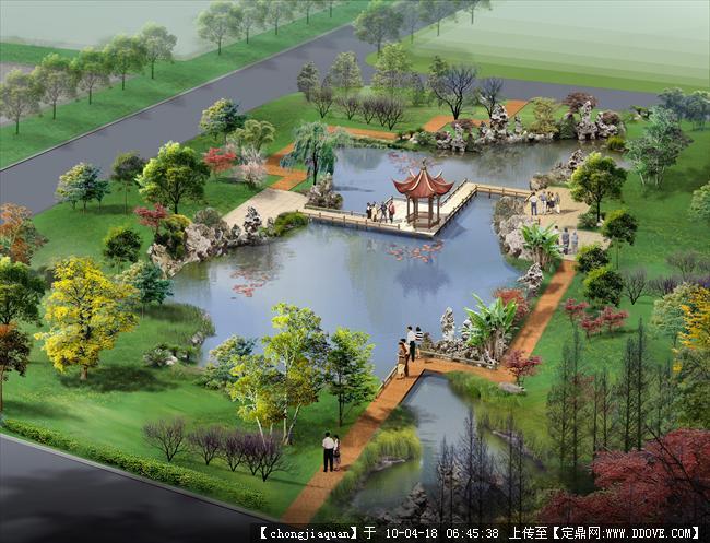 科技园区一绿地鸟瞰效果图的图片浏览