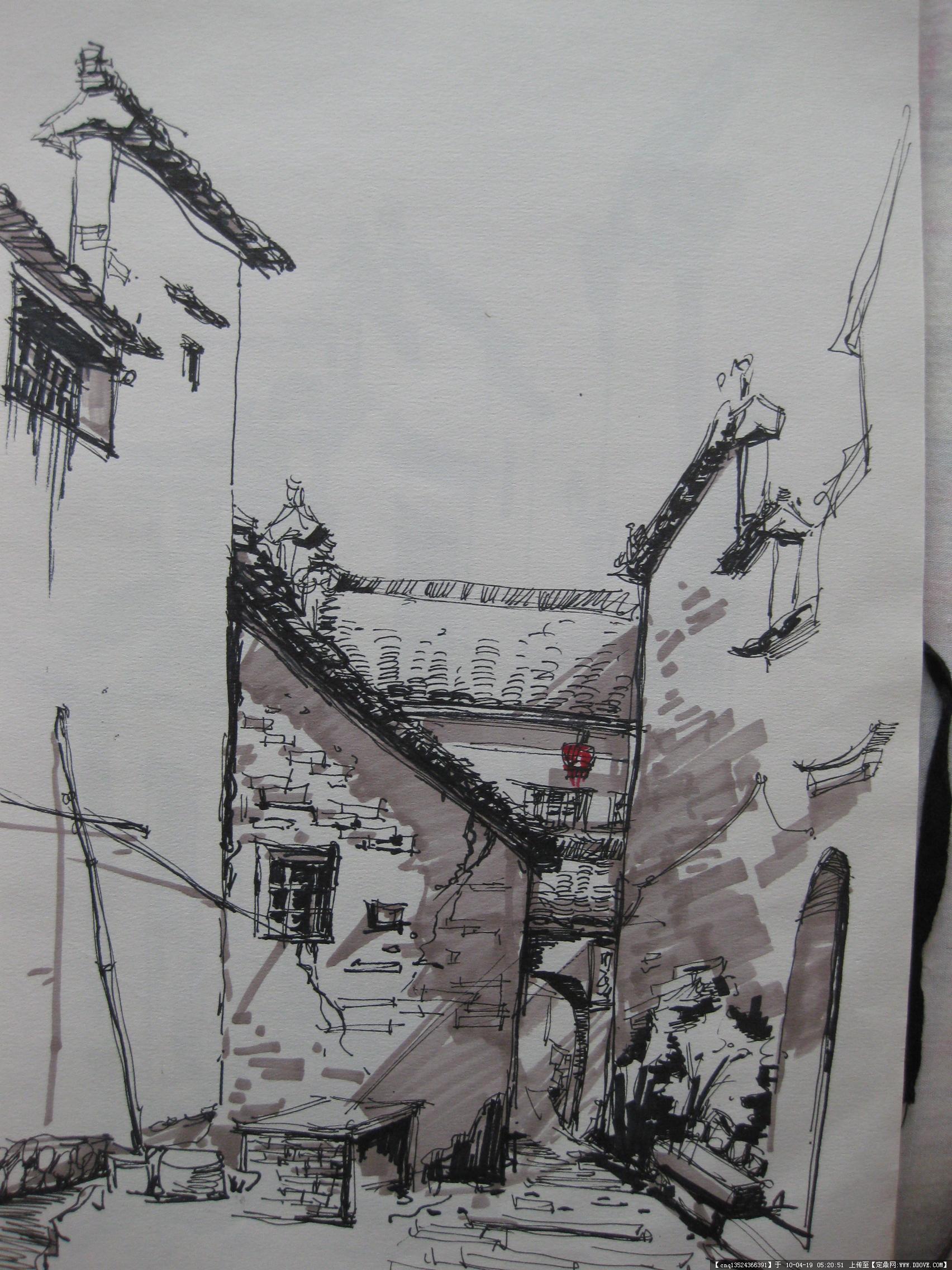 宏村手绘写生10张-大图