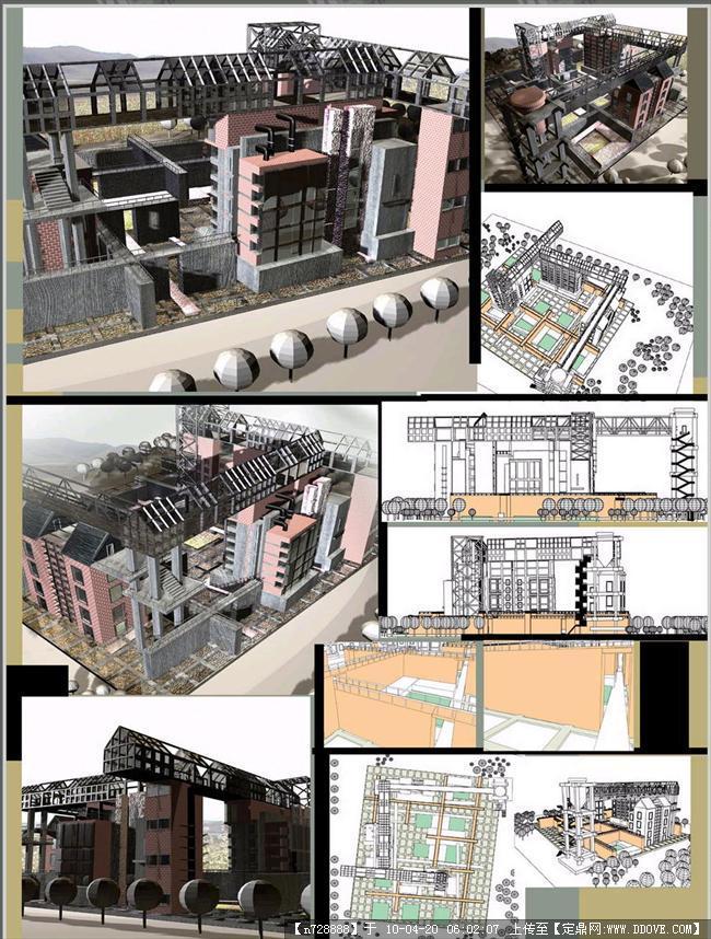 新校区艺术馆建筑景观设计-展板1张