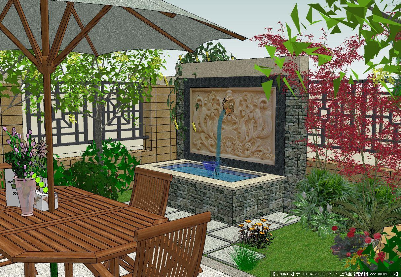 别墅庭院设计效果几张的图片浏览,园林效 果图,花园,.