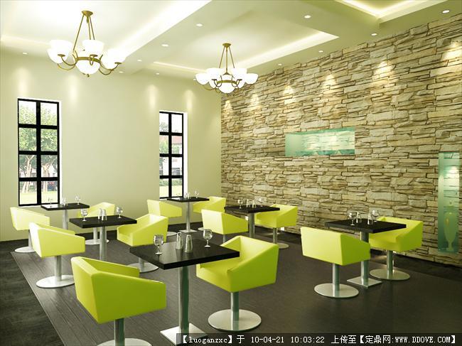 主题餐厅设计cad带效果图