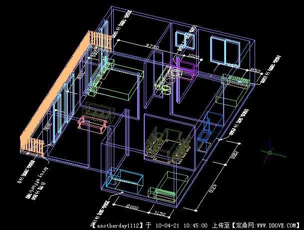 小窝-住宅三维CAD图家具cad立体图图片