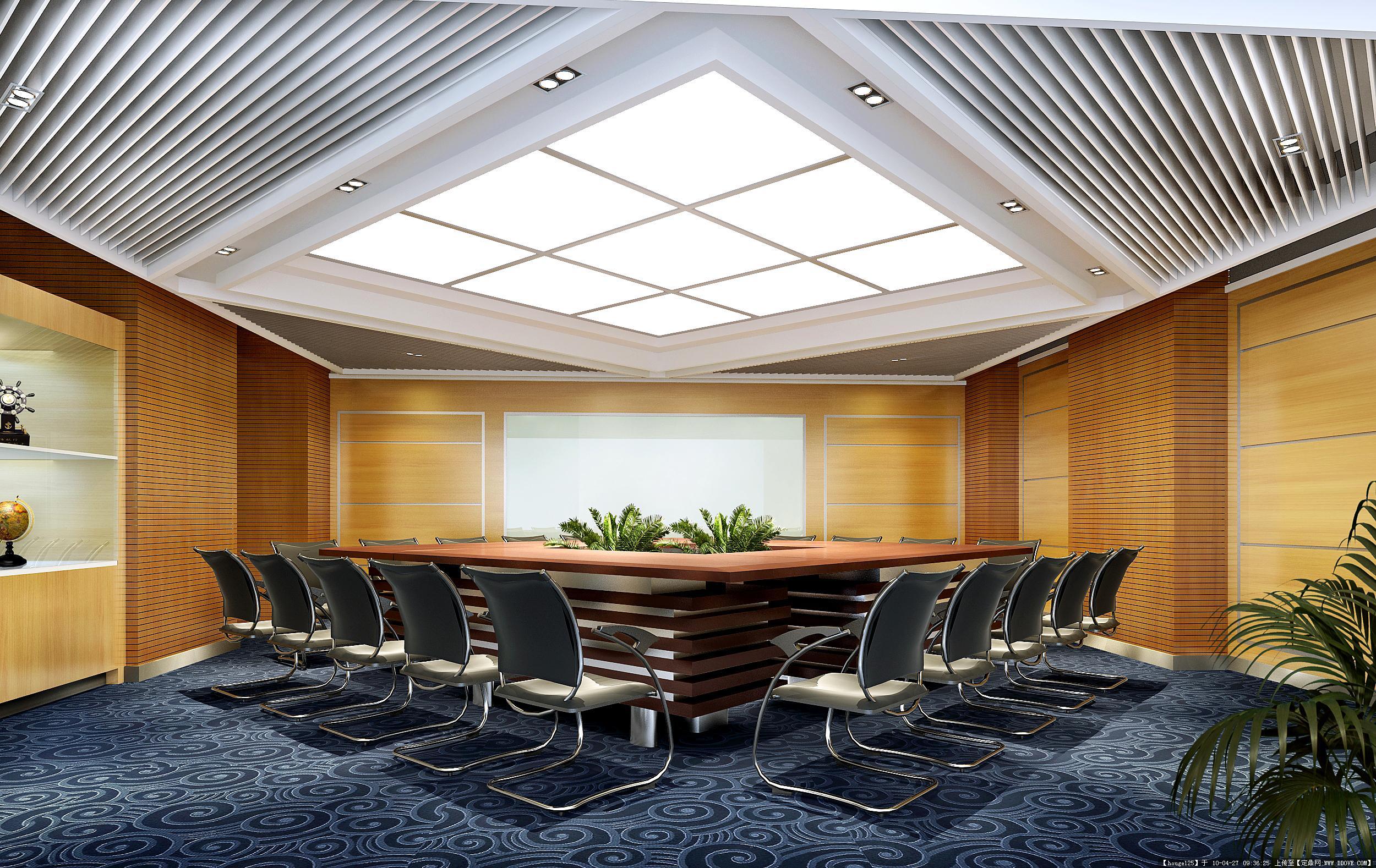 一个办公室的装修图片-会议室效果图.jpg