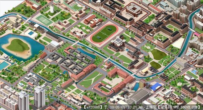 清华大学3d鸟瞰图