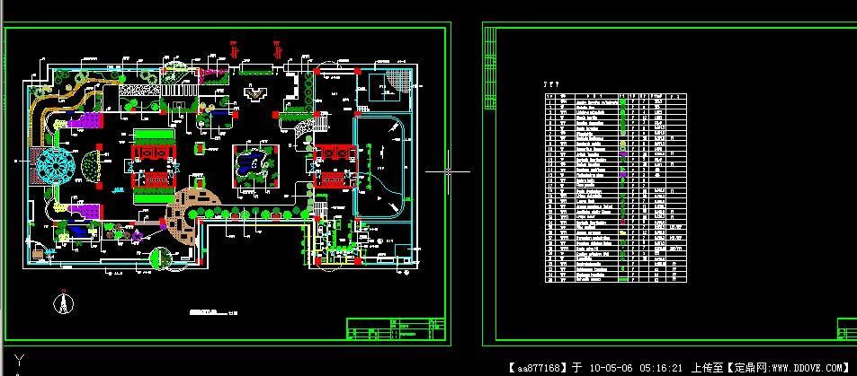 大厦架空层绿地设计图纸(带植物表).rar